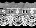 embroidered edge with beading